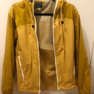 XS J. Crew yellow rain jacket